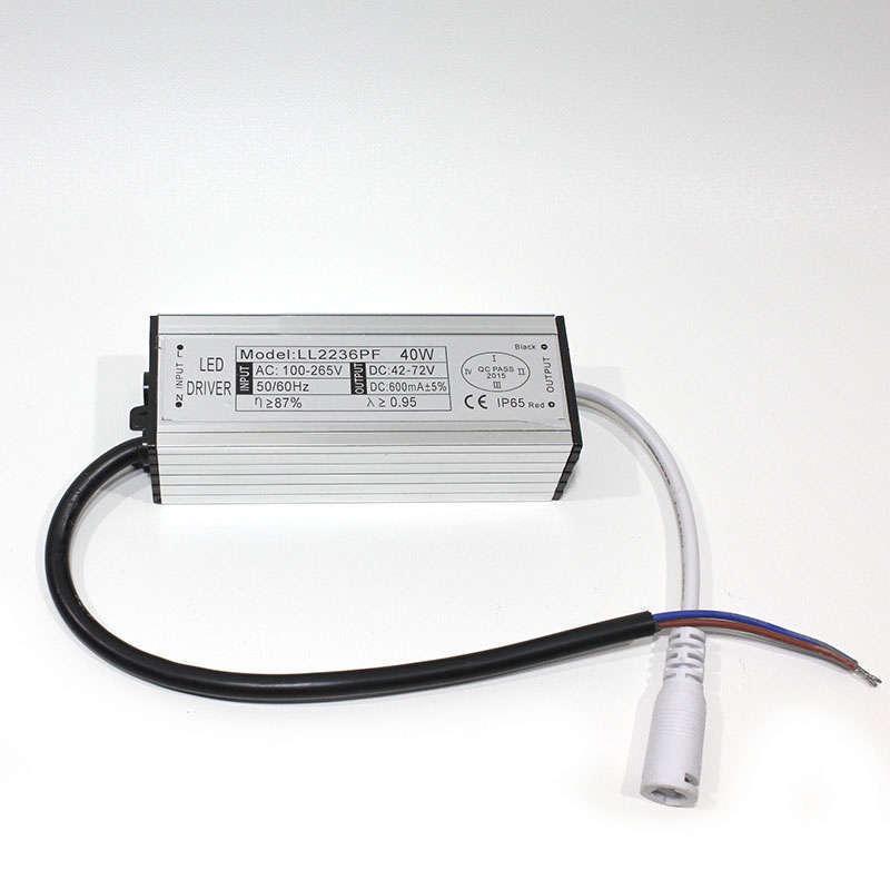 Driver para panel LED DC42-72V/40W/600mA