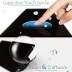 Conmutador táctil + remoto, 4 botones, frontal negro