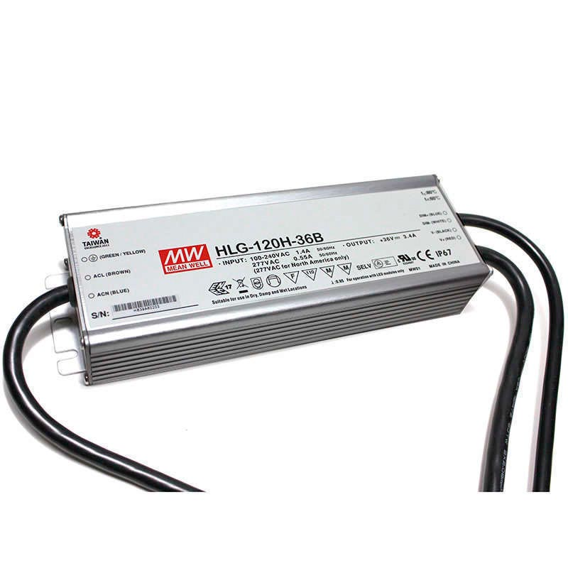 LED Driver Mean Well DC18-36V/120W/3400mA Regulable 0-10V