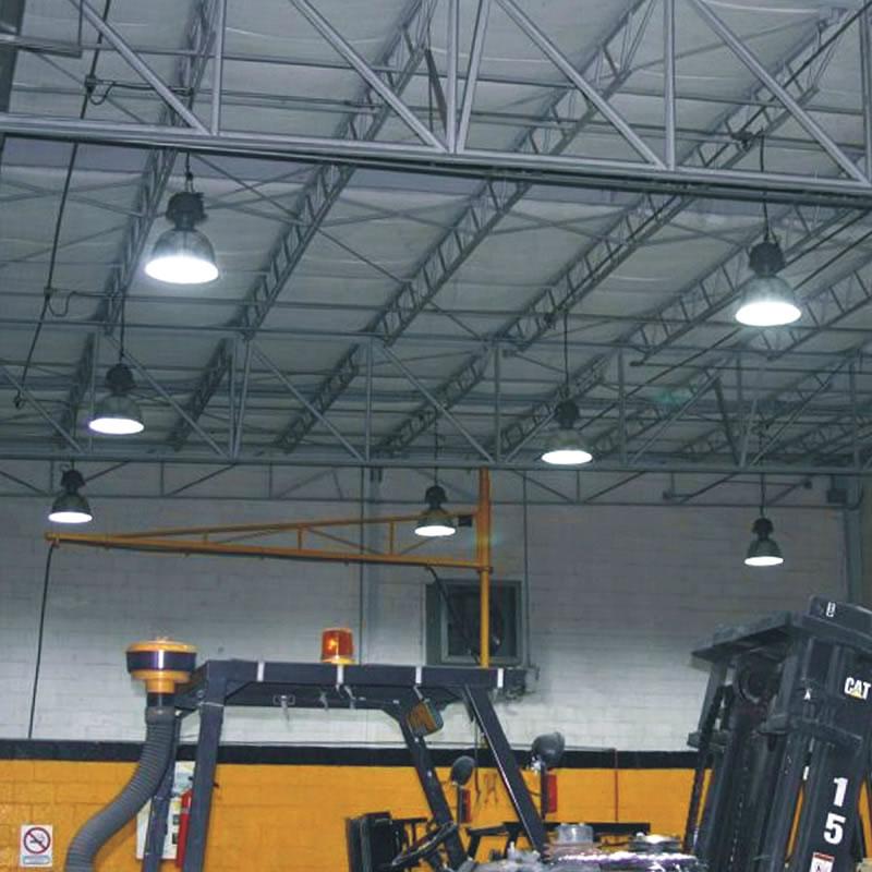 Campana industrial 120w campanas led industriales ledbox for Precios iluminacion exterior