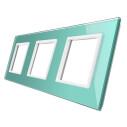 Frontal cristal verde 3x huecos