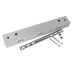 Florón rectangular silver 400x60mm