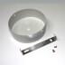 Kit doble suspensión redondo silver, Ø100mm